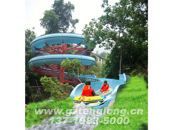 "Dawei Mountain Water Park is located in the beautiful ""Huxiang Treasure"" Liuyang City, Hunan Province. Dawei Mountain is the branch of Luoxiao Mountain Range and the birthplace of Liuyang River. It is the three major tourist destinations around Changsha and an international tourism and leisure center. Dawei Mountain Water Park is located in Longxu Canyon of Dawei Mountain. It was designed and built by Guangzhou Tenglong Water Park Equipment Co., Ltd. It was completed in June 2012 and opened in the summer of the same year. The customer experience is good and the reception capacity is superb. The project mainly includes rainbow slides, fast slides, children's water playing equipment, among them, the first domestic aerial rotating kayak rafting slide."